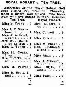 Extract from the Mercury Newspaper 1933